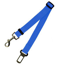 Adjustable Dog Pet Car Safety Seat Belt Harness Restraint Leash Travel Clip Blue