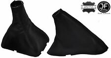 BLACK STITCHING MANUAL LEATHER SHIFT & E BRAKE BOOT FITS CHEVROLET OPTRA 02-09