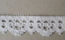 CRAFT-SEWING-COTTON 4mtrs x 17mm Natural/Cream Cotton Blend Lace