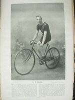THE SPORTFOLIO PORTRAITS 1896 VINTAGE CYCLING PHOTOGRAPH PRINT G.F. PAYNE
