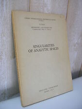 Tognoli : Singularities of analytic spaces 1975 Mathématiques