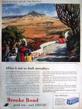 1956 Brooke Bond 'Tea' AD Painting by Lula Dyer in Kenya - Original Print ADVERT