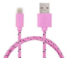 Ladekabel Datenkabel Kabel iPhone5/6 Handy Nylon Kordel Pink