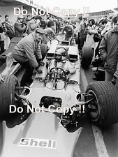 Emerson Fittipaldi Gold Leaf Team Lotus 56B Race of Champions 1971 Photograph
