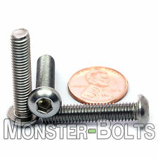 6mm - 1.00 x 30mm - Qty 10 - A2 Stainless Steel BUTTON HEAD Screws  M6-1.0 x 30