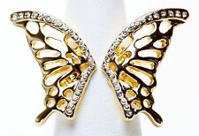 EXPRESS FILIGREE BUTTERFLY MULTIBAND RING goldtone size 7