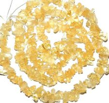 NG1329f Yellow Citrine 4mm Mini-Chip Nugget Gemstone Beads 16""