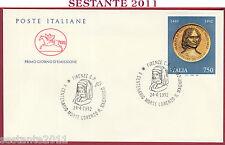ITALIA FDC CAVALLINO LORENZO DE MEDICI IL MAGNIFICO 1992 ANNULLO FIRENZE S242
