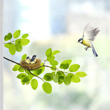 Beautiful Window Glass Wall Decorative Removable Clear Sticker Birds Nest Leaves