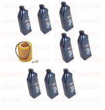 BMW E82 E90 Set of 8 Oil Bottles 5w30 and 1 Engine Oil Filter Genuine / Mann