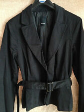 Vero Moda Black Belted Jacket Smart Business Blazer Fully Lined UK 14 EU 42 US10