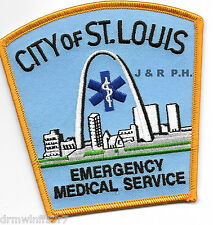 """St. Louis  Emergency Medical Services,  MO  (4"""" x 4"""" size) fire patch"""