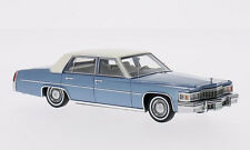 wonderful modelcar CADILLAC DE VILLE  1977 - bluemetallic / white - 1/43 - lim.