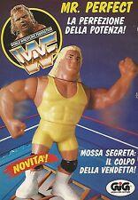 X0058 MR. PERFECT World Wrestling Fed. - GIG - Pubblicità 1992 - Vintage Advert