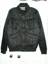 Nickelson Mens Black Smart Padded Bomber Jacket Coat Size Large New