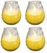 4 prices OUTDOOR CITRONELLA FRAGRANCED GARDEN candle GLASS JAR free post
