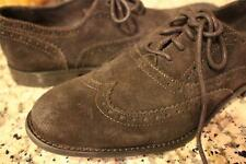 John Varvatos Star Sid Commuter Suede BROWN Wingtip Oxfords 8M   (MENS700)