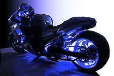 LED Motorcycle Accent Engine Ground Wheel Light Kit for Harley Davidson - BLUE
