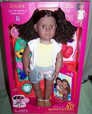 "Our Generation Dedra 18"" Doll & ""The Vacation of Hidden Charms"" New"