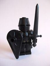 Lego Custom THE BLACK KNIGHT Templar with Custom Armor and Weapons -Castle LOTR