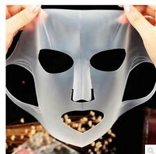 NEW UNISEX REUSABLE SILICONE SKIN MAKEUP MASKS MOISTURIZING BEAUTY FACE MASKS -Q