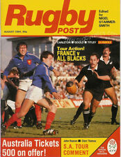 RUGBY POST MAGAZINE AUGUST 1984