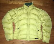 Patagonia Lime Green/Yellow Goose Down Women's Medium Puffer Jacket