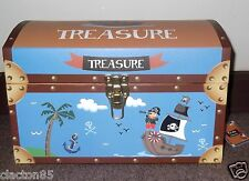 CHILDRENS BOYS GIRLS MEDIUM PIRATE TREASURE CHEST TOYS STORAGE BOX TRUNK TIDY