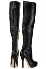 *NEW* topshop barley 2 over the knee thigh high leather boots uk 7 eu 40 us 9.5