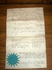 Antique Estate Settlement City & County Of Philadelphia - David Caldwell - 1836