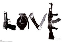 Love (Weapons) Black & White Steez Poster Poster Print by Steez, 36x24
