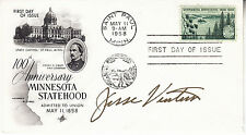 JESSE VENTURA hand signed 1958 FDC first day cover autographed - Minnesota 100th
