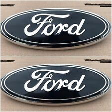 NEW 2004 - 2014 FORD F-150 BLACK OVAL FRONT GRILLE & REAR TAILGATE 9 INCH EMBLEM