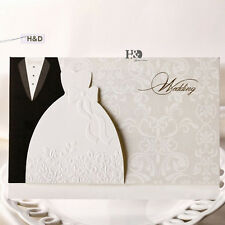 50 Personalized Laser Cut Printing Wedding Invitation Cards with Envelopes Seals