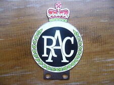 RAC CHROME ENAMEL CAR BADGE BMC JAGUAR MG RILEY AC FORD MORGAN HEALEY JENSEN VAN