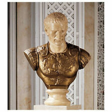 Roman Greek Museum Replica Julius Caesar Bust Sculpture Statue NEW