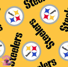 114179081- New Pittsburgh Steelers NFL Football 6235 D Fleece Fabric By The Yard
