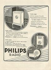 W0095 Philips Radio - Pubblicità 1930 - Advertising