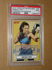 PSA 9 MIESHA TATE AUTO AUTOGRAPH 2013 TOPPS UFC BLOODLINES OCTAGON CAGE SIDE MMA