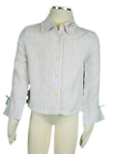 JACADI Girl's Revivre Natural Multi Striped Button Up Blouse  Age 2 yr NWT $56