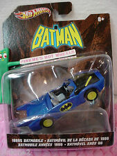 BATMAN 2012 Hot Wheels 1980s blue BATMOBILE 1:50 Scale ✿ BATIMOVIL