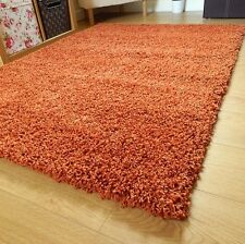 SMALL - EXTRA LARGE THICK 5cm PILE PLAIN SOFT LUXURIOUS NON-SHEDDING SHAGGY RUGS
