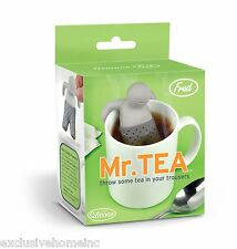 Fred MrTea Infuser Loose Tea Leaf Strainer Herbal Spice Silicone Filter Diffuser