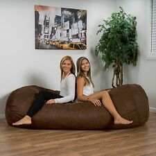 Bean Bag Chair For Adults Big Giant 8 Foot Teens Kids Large Microfiber Brown NEW