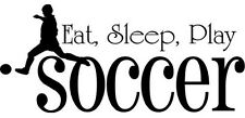Vinyl Eat Sleep Play Soccer Boy Lettering Decal Wall Decor Sticker Room Sports