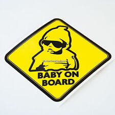 BABY ON BOARD Warning Sign Funny Car,Van,Bumper,Window Vinyl Decal Sticker