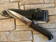 WALTHER P38 Messer Knife Outdoormesser Jagdmesser Hunting Knife mit Lederholster