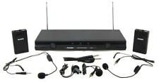 Mason VX-504 Dual Channel Wireless Headset Microphone System and Bonus Lapel NEW