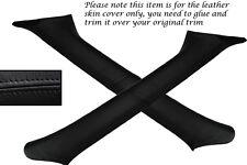 BLACK STITCH FITS SUBARU IMPREZA WRX STI 98-04 2X WINDSCREEN PILLAR LTHR COVERS