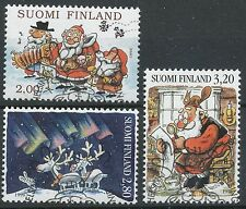 Finland 1996 Used Set of 3 Stamps - Christmas Traditions - First Day Cancel